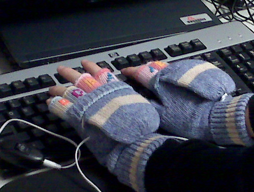 Heated USB gloves